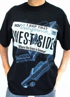 Club Urban WESTSIDE T Shirt Black Hip hop mens clothing tattoo