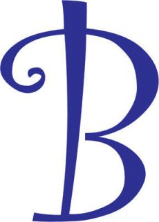 Letter B Initial Vinyl Car Decal Window Sticker