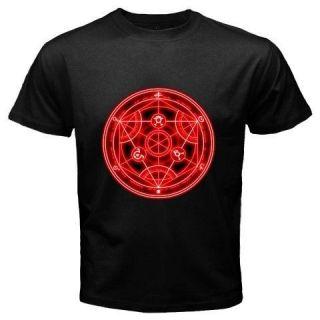 FULL METAL ALCHEMIST Homonculus Seal Anime Manga Series Black T Shirt