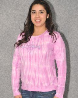 Harley Davidson Ladies Pink Tie Dye Long Sleeve T Shirt