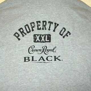 MENS T SHIRT *CROWN ROYAL BLACK* GRAY SHORT SLEEVES LARGE