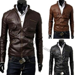 Top Designed Sexy PU Leather Short Jacket Coat 3color 4 size M1668