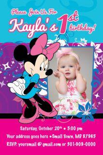 MINNIE MOUSE Disney Invitation Birthday Party Baby Shower 1st Birthday