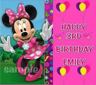 MINNIE MOUSE #2 BIRTHDAY FROSTING SHEET EDIBLE CAKE TOPPER