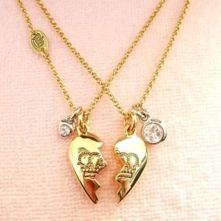juicy couture best friend necklace