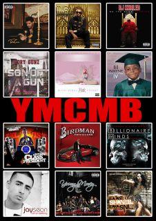 YMCMB Album Covers A1 Poster Drake Lil Wayne Nicki Minaj Tyga Birdman