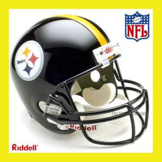 PITTSBURGH STEELERS NFL DELUXE REPLICA FULL SIZE FOOTBALL HELMET by