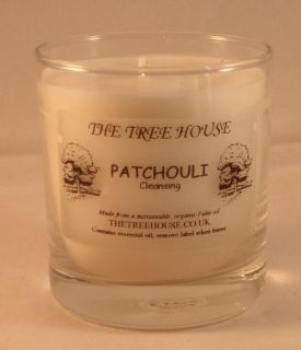 Organic Plant Wax Candle in a Glass Jar (Patchouli)
