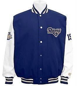 St. Louis Rams Official NFL Cotton Super Bowl Jacket by G III S M L XL