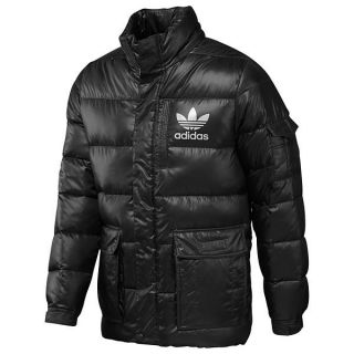 New Mens Adidas Originals AC Down Jacket Black/White X52573 S M L