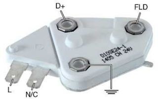 DELCO VOLTAGE REGULATOR SELF EXCITED ALTERNATOR 12V 1 WIRE 10SI 12SI