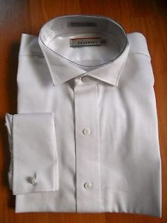 White Tuxedo Shirt 17 1/2 x 34 100% Fine Eygptian Cotton MSRP $70
