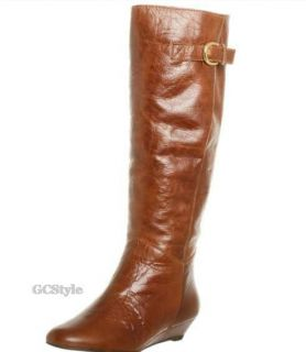 Steven by Steve Madden intyce Tall Wedge Boots KNEE HIGH LEATHER