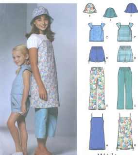 Mini Dress Jumper Top Shorts Cropped Pants Hat Sewing Pattern 5707
