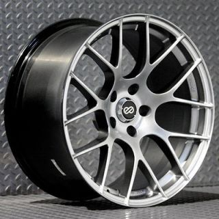 ENKEI RAIJIN RIMS HYPER SILVER 18x9.5 5x114.3 +35 (4 NEW WHEELS)