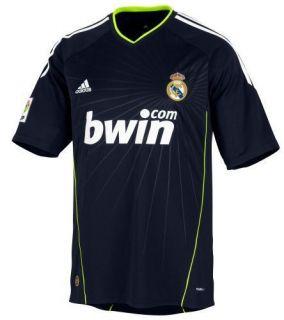 adidas Real Madrid 2010 2011 Away Soccer Jersey Brand New Black