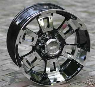 17 inch black DIAMO 17K Wheels Chevy HD Gmc Dodge 8 Lug