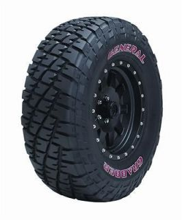 General Grabber Tire 33 x 12.50 17 Solid Red Letters 04568170000