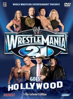 WWE   Wrestlemania 21 Wrestlemania Goes Hollywood DVD, 2005, 3 Disc