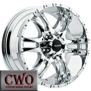 18 Chrome Wizard Wheels Rims 6x139.7 6 Lug Titan Tundra GMC Chevy 1500