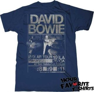 David Bowie Isolar Tour 1976 Officially Licensed Adult Slim Fit Shirt
