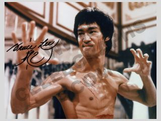 Bruce Lee Karate Ninja Dragon Movie Autograph Film Cell Collectable 2c
