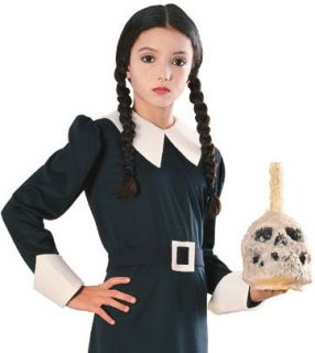 Child Girls The Addams Family Wednesday Wig Braided Costume Accessory