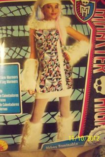 MONSTER HIGH COSTUME/DRESS UP NEW ABBY BOMINABLE LEG WARMERS