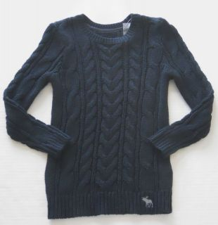 ABERCROMBIE & FITCH Womens Navy Cable Knit Sweater Size XS