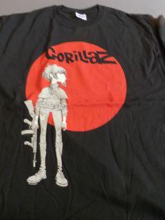 GORILLAZ Machine Gun T Shirt **NEW music band concert tour 2XL XXL