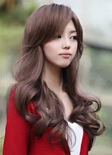 NEW*2012 Korean Fashion Brown Long Curly Womens Ladys Hair Wig/Wig