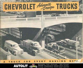 Chevrolet Truck Brochure COE Tractor Trailer Pickup Panel Suburban