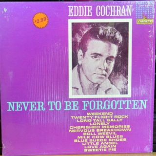 EDDIE COCHRAN NEVER TO BE FORGOTTEN MEMORIAL LP ROCK DOO WOP RARE NO