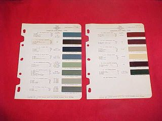 1946 DODGE CAR PAINT CHIPS COLOR CHART BROCHURE 46
