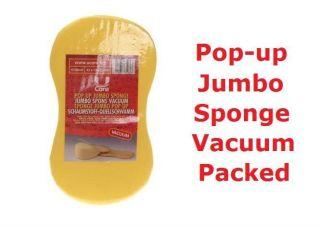 Pop up Jumbo Sponge   Vacuum Packed   Clean Car Motorcycle Bike Boat