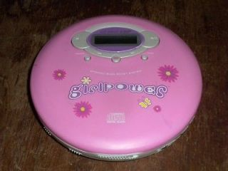 EMERSON GIRLPOWER PORTABLE CD PLAYER GIRL POWER FREE PRIORITY MAIL