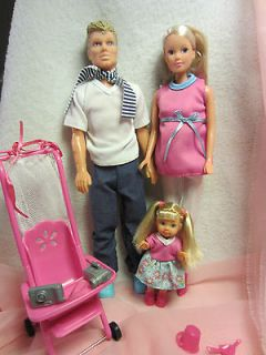 Barbie Simba doll, new, happy family, with husband and child etc. MIB