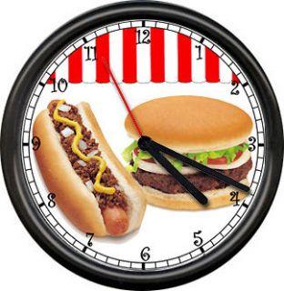 Chili Dog Hot Hamburger Deli Concession Stand Cafe Kitchen Sign Wall