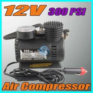 12V 300 PSI Portable Electric Auto Car Pump Air Compressor Tire