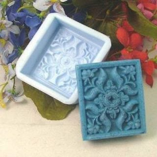 Soap Mold Moulds Square Flowers Flexible Silicone Mold For Handmade
