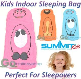 Indoor Sleeping Bag Boys Girls Kids Childrens Play Sleepover Dovet