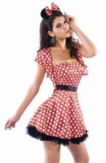 Mickey Minnie Mouse DRESS Costume Womens Halloween Adult M/L USA