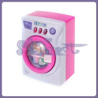 Kids Girls Pretend role Play Toy Laundry Center Washing Machine