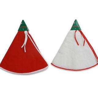 holiday felt christmas tree skirt White or Red 33 DIAMETER