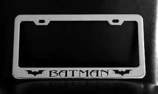 BATMAN DARK KNIGHT RISES License Plate Frame, Custom Made of Chrome