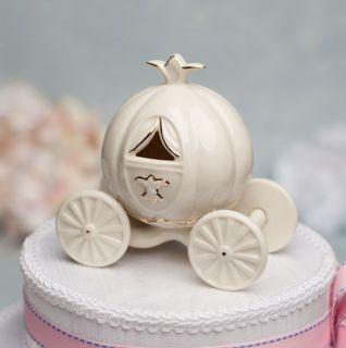 Porcelain Cinderella Pumpkin Coach Wedding Cake Topper Caketop with