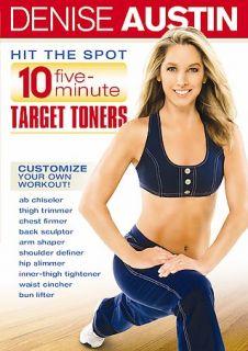 Denise Austin   Hit the Spot 10 Five Minute Target Toners DVD, 2007