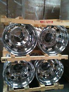 19.5 ALCOA WHEELS RIMS FORD F450 FORD F550 DUALLY TRUCK SET (2 Front