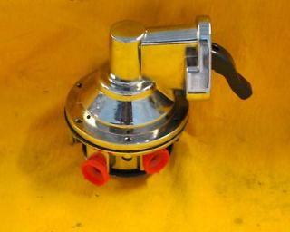 Sbc Small Block Chevy 140gph Fuel Pump Chrome High Volume 350 383 400