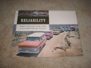 1963 Chevrolet pickup truck Suburban C10 K10 C50 C60 RELIABILITY sales